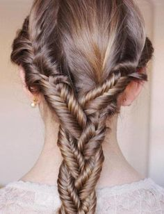 One hot mess. It reminds me of being a kid and thinking you're a genius because you made 3 braids and braided them.