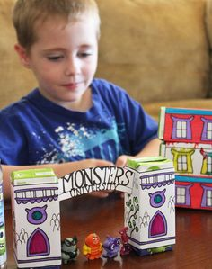 Monsters University Craft - Juice Box Printables - Always Expect Moore