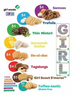 Girl Scout cookies Daisy Girl Scouts, Girl Scout Troop, Boy Scouts, Scout Leader, Selling Girl Scout Cookies, Girl Scout Cookie Sales, Girl Scout Samoas, Brownie Girl Scouts, Girl Scout Juniors