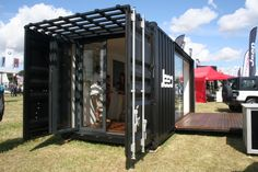 Shipping container to be seen at Carfest '14 with Jeep