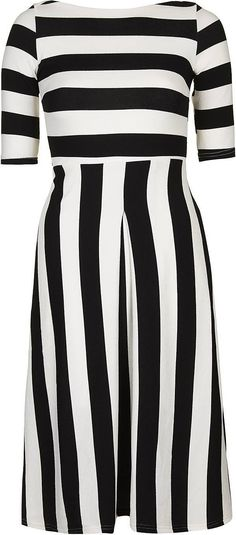Womens black and white maria midi dress by tfnc from Topshop - £45 at ClothingByColour.com