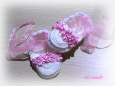 baby girl's shoes, gift ideas, white shoes , pink flower, pearls,baptism, birthday, newborn, organza ribbon by TinasHandicraftGr on Etsy