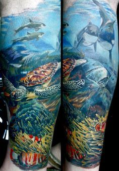 Ocean Themed Half Sleeve Tattoos Ocean theme tattoos