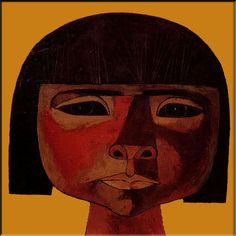 Guayasamin reproduction Little Child ethnic cubism by EcuadorsArt, $135.00