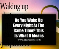 Do You Wake Up Every Night At The Same Time? This Is What It Means