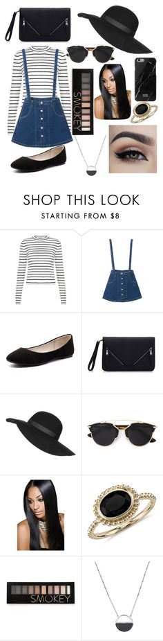"""""""OOTD February 7"""" by chooseyourstyle321 on Polyvore featuring Verali, Topshop, Christian Dior, Blue Nile, Forever 21, White House Black Market, women's clothing, women, female and woman"""
