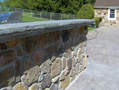 Natural Stone work on outdoor Kitchen.