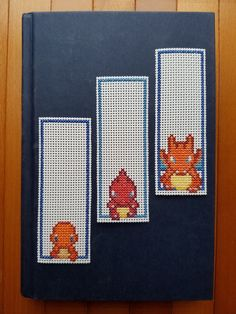 Cross Stitch Bookmarks - Pokemon - Charmander Evolutions by PupsnPixels on Etsy