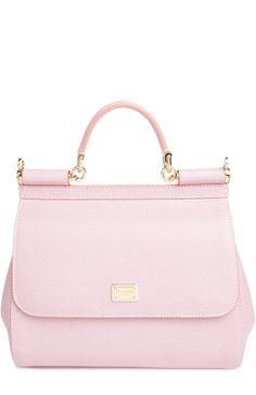 383392f0b8 Женская розовая сумка с зеркалом sicily Dolce & Gabbana, сезон FW 15/16…