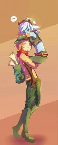 Tristana and Teemo League of Legends LoL