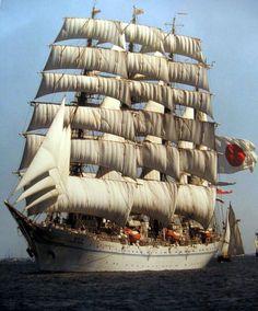 Tall Ship Under Sails Japan