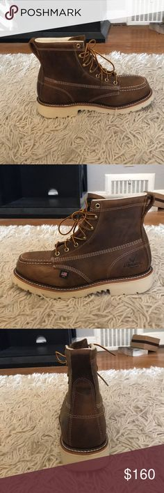 "Male boots Men's Thorogood 6"" American Hertiage Moc Toe Weinbrenner/ Thorogood Shoes Rain & Snow Boots"