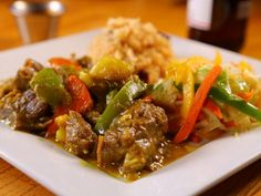 Jamaican Curried Goat from Food Network Jamaican curry goat from the Food Network Jamaican Curry Goat, Jamaican Curry Powder, Jamaican Dishes, Jamaican Recipes, Oxtail Recipes, Goat Recipes, Cooking Recipes, Savoury Recipes, Chicken Recipes