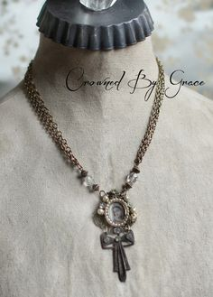 Hannah's Prayer - Vintage Assemblage Necklace by Crowned by Grace (Teri Butler)