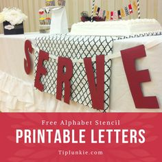 It seems I'm constantly needing a quick banner or sign in a pinch. So I made these alphabet free printable letters. The free printable stencils are in a block… Decorative Alphabet Letters, Block Letter Alphabet, Free Printable Alphabet Letters, Alphabet Templates, Alphabet Stencils, Free Stencils, Printable Stencils, Star Wars Party, Free Block Fonts