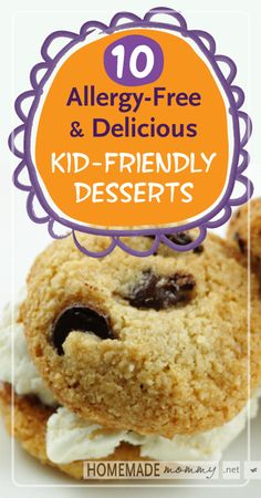 10 Allergy-free & Delicious Kid-Friendly Desserts | www.homemademommy.net #recipes #paleo