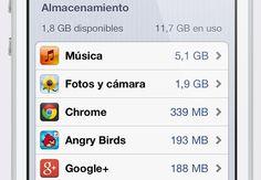 5 maneras de liberar espacio de memoria en tu iPhone