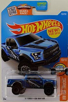 Hot Wheels 2016 HW Trucks '17 Ford F-150 Raptor [Blue] Die-Cast Vehicle #150/250...