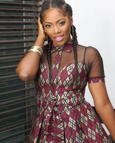 kitenge designs Tiwa Savage Stuns Beautifully in Ankara Outfit African fashion Ankara kitenge # African Dresses For Women, African Print Dresses, African Fashion Dresses, African Attire, African Wear, African Women, African Prints, Ghanaian Fashion, African Outfits