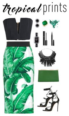 """Sin título #284"" by amchavesj-1 ❤ liked on Polyvore featuring Dolce&Gabbana, Dsquared2, Balmain, Valextra, Tom Binns, Chanel, Anne Sisteron, Marc Jacobs, Stila and tropicalprints"