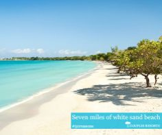 Seven miles of white sand beach #couplesresorts #jamaica c.oupl.es/1g5FFze
