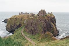 Dunnottar Castle Scotland Large Metal Wall by DanFroelichTreasures