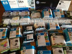 Do you have unused ink and toner? Hi Tech Will Buy Your Surplus Ink And Toner Cartridges! Click or more info...
