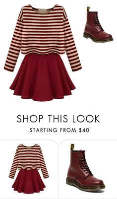 """Untitled #105"" by genessis-villalpando ❤ liked on Polyvore featuring beauty and Dr. Martens"