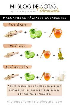 Mascarillas faciales aclarantes para pieles grasas, secas o sensibles! | Mi Blog de Notas Venezuela