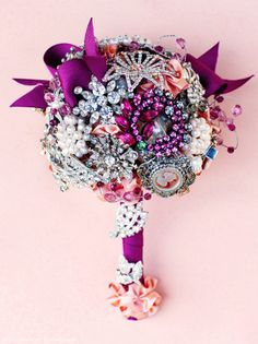 brooch bouquet finding inspiration as I'm making one for my 2 girls bedroom with my wonderful mother's collection