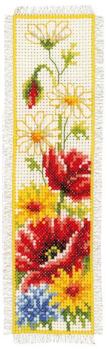 Marcador: flores campa�a de Vervaco - Marcadores - Kits Bordado - Casa Cenina