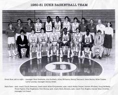 Allen Williams, Mike Krzyzewski, Coach K, Back Row, Duke Blue Devils, Duke Basketball, One Team, Larry, Banks