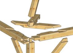 Is a hip roof a timber framing nightmare? in Timber Framing/Log construction Timber Roof, Timber Buildings, Timber Frame Homes, Timber Frames, Framing Construction, Japanese Joinery, Joinery Details, Timber Structure, Wood Joints