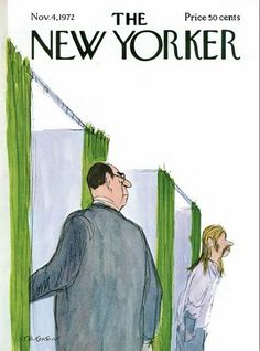 size: Premium Giclee Print: The New Yorker Cover - November 1972 by James Stevenson : The New Yorker, New Yorker Covers, Magazine Art, Magazine Design, Magazine Covers, Vintage Illustration Art, Vintage Comics, Caricature, Cover Art