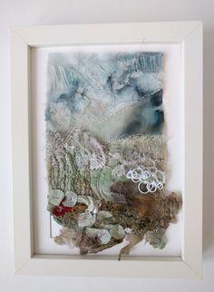Landscape embroidery marianjazmik.co.uk Embroidery Designs, Embroidery Art, Sea Texture, Weaving Art, Textile Artists, Soft Sculpture, Fabric Art, Collage Art, Art Lessons
