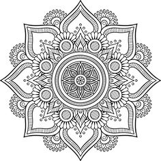 Shop Mandala Retro hand drawn black & white flower Sticker created by Little_Zazzle. Mandala Design, Mandala Art, Mandala Drawing, Mandala Painting, Mandala Pattern, Dot Painting, Flower Mandala, Mandala Coloring Pages, Colouring Pages