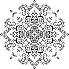 Shop Mandala Retro hand drawn black & white flower Sticker created by Little_Zazzle. Mandala Art, Mandala Design, Mandala Drawing, Mandala Painting, Mandala Pattern, Dot Painting, Flower Mandala, Mandala Coloring Pages, Geometric Art