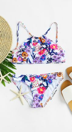 08b1ddf59d Floral Print Sexy Bikini Set Summer Bathing Suits