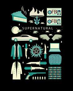 Supernatural (No. 1) T-Shirt $11 Supernatural tee at Unamee!