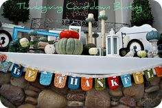 Thanksgiving Countdown Bunting and 28 family grateful activities to do together.