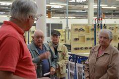 Le 15 septembre 2013, d'anciens ouvriers de la filature Le Blan ont participé à la première édition des journées européennes du patrimoine à l'AFORP Mantes. Après plus de cinquante ans, ils ont de nouveau pénétré dans l'atelier de l'ancienne filature. (© crédit photo AFORP)