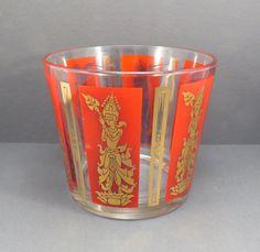 Hindu Deity Mid Century Ice Bucket Vintage by VintageCreekside