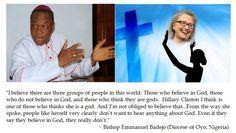 Bishop Emmanuel Badejo on Hillary Clinton