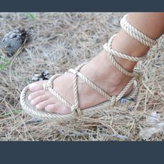 I might have to get myself these this year!  Gladiator rope sandals by Nomadic State of Mind, $35