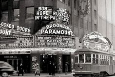 Brooklyn Paramount Theater, at Flatbush and DeKalb Avenues, 1948 downtown brooklyn old brooklyn classic Big Apple vintage New York City history prints Images and Photography at Old NYC Photos Paramount Theater, Paramount Movies, Old Time Radio, Ny Ny, Vintage New York, City That Never Sleeps, Staten Island, Coney Island, Best Cities