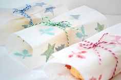 Pretty & practical packaging for edible goodies! Using wax paper, some embellishments and an iron!