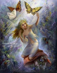 artist, Nadezhda Strelkina  title, Fairy World  (Fedoskino Laquer Art)