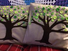 Button tree cushion covers. - The Supermums Craft Fair