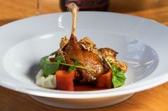 Duck leg confit, celeriac, roasted quince – Recipes – Bite