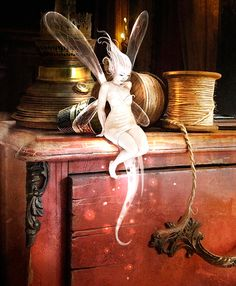 "Elves Faeries Gnomes:  ""Tinkerbell,"" by Benjamin Carre."